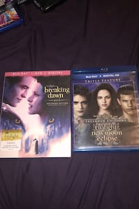 Twilight saga (minus breaking dawn part 2)  Auburn, 01501