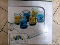 Glass Drinking Cup Chess Set 68 km
