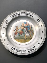 The Great American Revolution Vintage Pewter Plate Suffolk, 23435