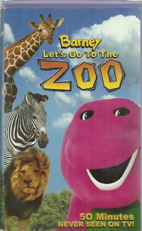 vhs Barney Let's Go To The Zoo Clamshell