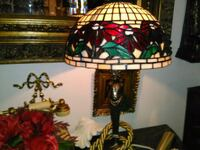 yellow, red, and green stained glass table lamp Deerfield Beach, 33442