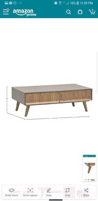 brown wooden bed frame with white mattress Bakersfield, 93311