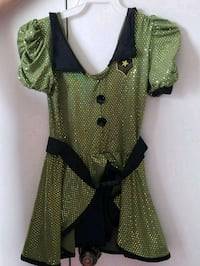 green and black polka dot sleeveless dress Fort Benning, 31905