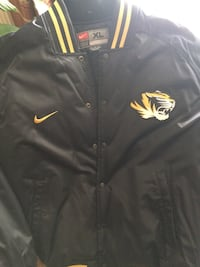 Nike black and yellow button up jacket
