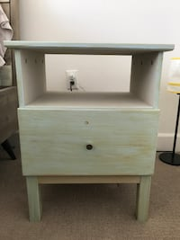Vintage Style Nightstand (color - light blue) Los Angeles