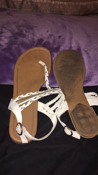 pair of brown leather open-toe sandals Fort Myers, 33901