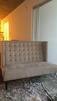 Grey tufted bench chair Toronto