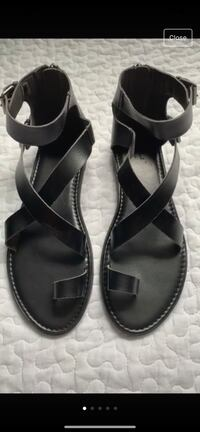 pair of black leather open toe ankle strap sandals Woodbridge, 22193