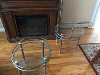 Beautiful glass end tables
