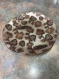 Glass decorative plate