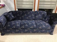 black and brown floral 3-seat sofa Calgary, T3J 3Y8