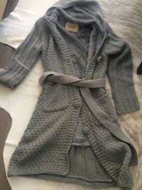 Gray knitted button-up robe Toronto, M5V 1R4