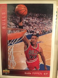 red and white Chicago Bulls Michael Jordan trading card Tulsa, 74135