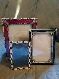 Metal picture frames w/bling