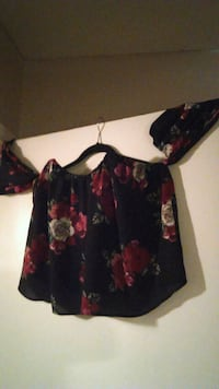 black and red floral long-sleeved dress Edmonton, T5N 1P3