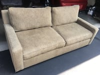 Gray fabric 2-seat sofa Woodbury, 55125