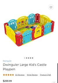 Dwinguler Large Kid's Castle Playpen   Fairfax, 22032