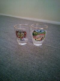 Set of 2 German Shot Glasses  899 mi