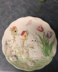 """Easter plate approx 12"""" across"""