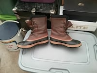 New pair of brown leather boots.