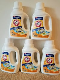 5 Arm and Hammer laundry detergent- $15 firm   Rockville