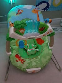 baby's green and white Fisher-Price bouncer Oakville, L6M 4Z1