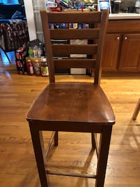 brown wooden framed padded chair ARLINGTON
