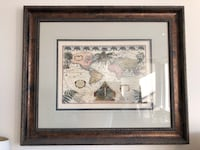 Crate & Barrel Vintage World Map Frame Yonkers, 10701