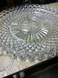 Crystal party plate Meridian