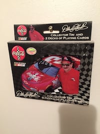 Dale Earnhardt collector tin and 2 decks of playing cards box Birdsboro, 19508