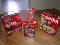 three assorted plastic toy boxes Laval, H7L 0C4