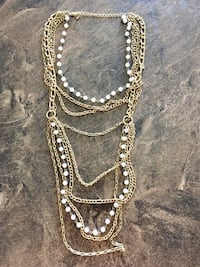 gold-colored chain necklace Beaumont, T4X 0C7