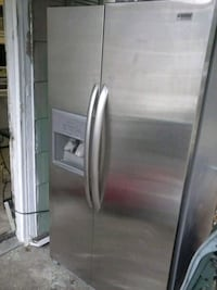 gray side-by-side refrigerator 617 mi