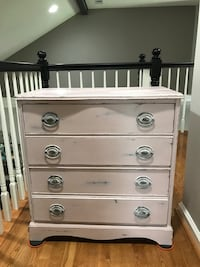 Pale pink 4 drawer nightstand. Nashville, 37221