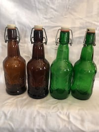 Beer brewing bottles.