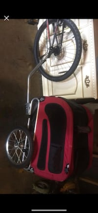 Pet bike carrier/trailer bought and was too small for my dogs. It does fold down for storage  Youngstown, 44514