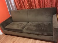 brown suede 3-seat sofa Jersey City, 07306