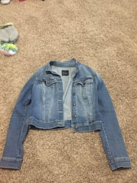 blue denim button-up jacket College Park, 20740