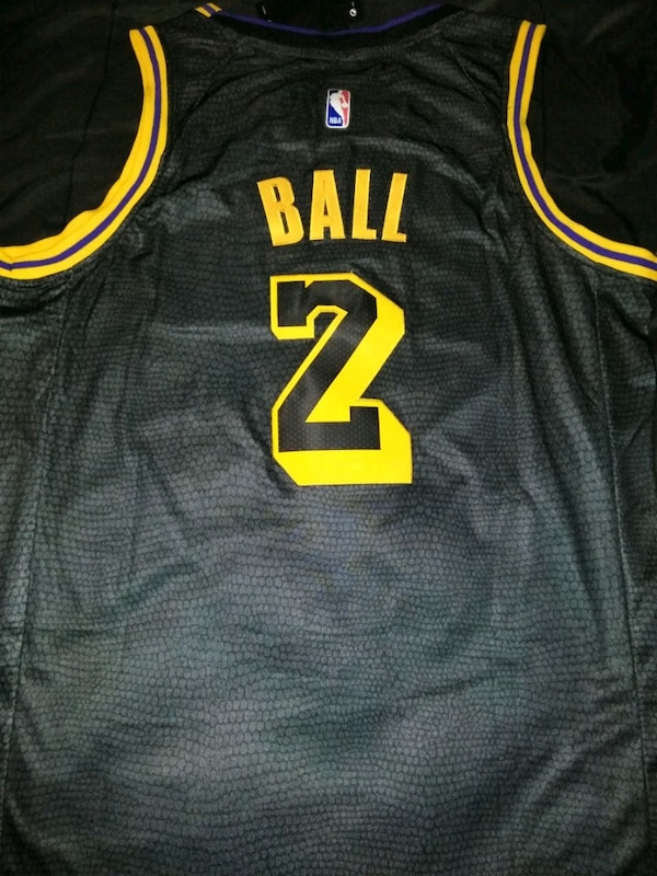 Used Lakers Lonzo Ball Black Mamba Edition jersey (M) for sale in ... 68bd5d16d
