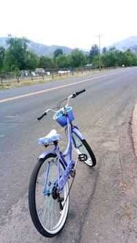blue and white hardtail mountain bike Colorado Springs, 80905