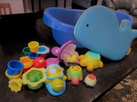 BATH SET - toys, knee pad, tub, thermometer TORONTO