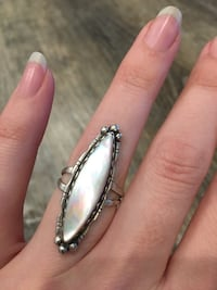 Vintage abalone & sterling silver ring Langley, V1M 3T3
