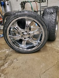 255/35/20 inch tires wrapped around a clean set of boss 20z Waterford, N0E 1Y0