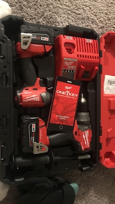 Brand new ONE KEY Milwaukee impact & hammer drill set