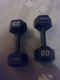 pair of 20lbs Champs dumbbells Carrsville, 23315