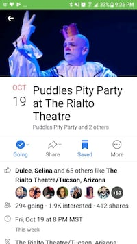 PUDDLES Pitty Party Tucson, 85706