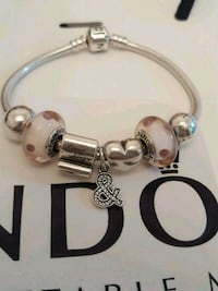 Authentic Pandora Silver Bracelet with Charms  Toronto, M4W