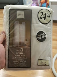 white sheer rod pocket panels window curtain pack Chambly, J3L 5W1