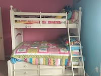 White Bunk Bed Set, full on bottom, twin on top. Brunswick Ga in Somersby Pointe. Can deliver if needed. Brunswick, 31523