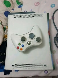 white Xbox 360 game console with controller Toronto, M9B 6C5